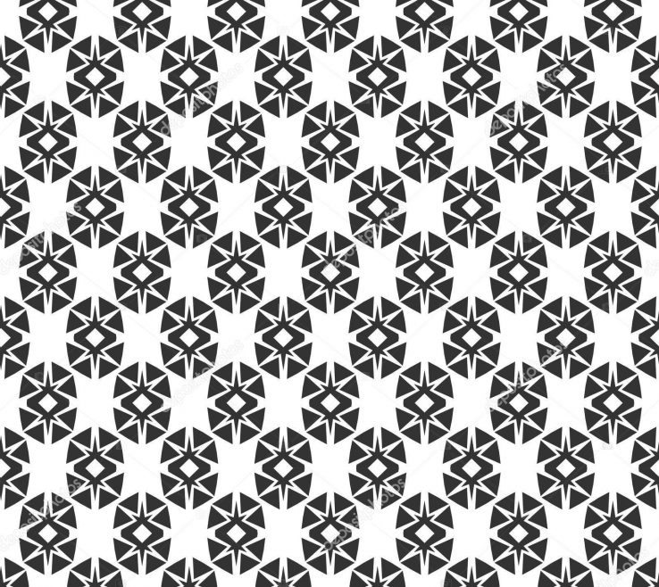 Geometric Decoration Of Abstract Seamless Pattern Repeating Black