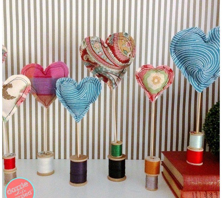 Heart Decorations Home E Fabric Scraps To Make Easy Sew