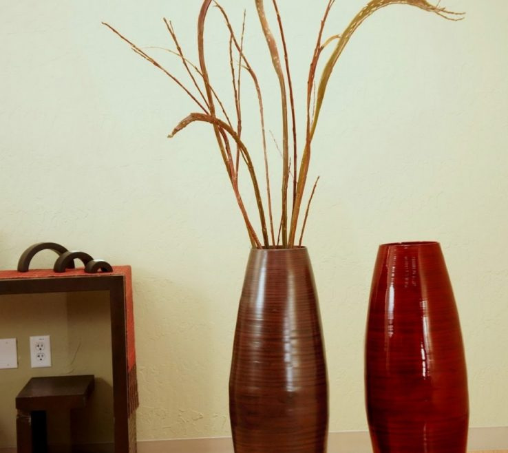 Impressing Big Vase Decoration Ideas Of Stands Wood | Cheap Tall Floor Vases