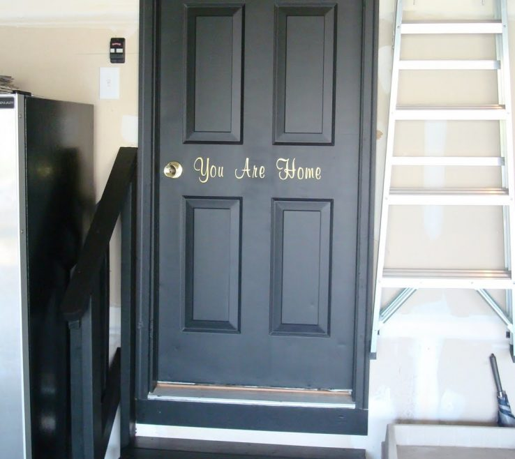 Impressing Black Interior Doors Of Garage Door