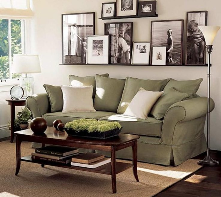 Impressing Decorating With Green Of Unique Wall Pictures For Impressive Family Room