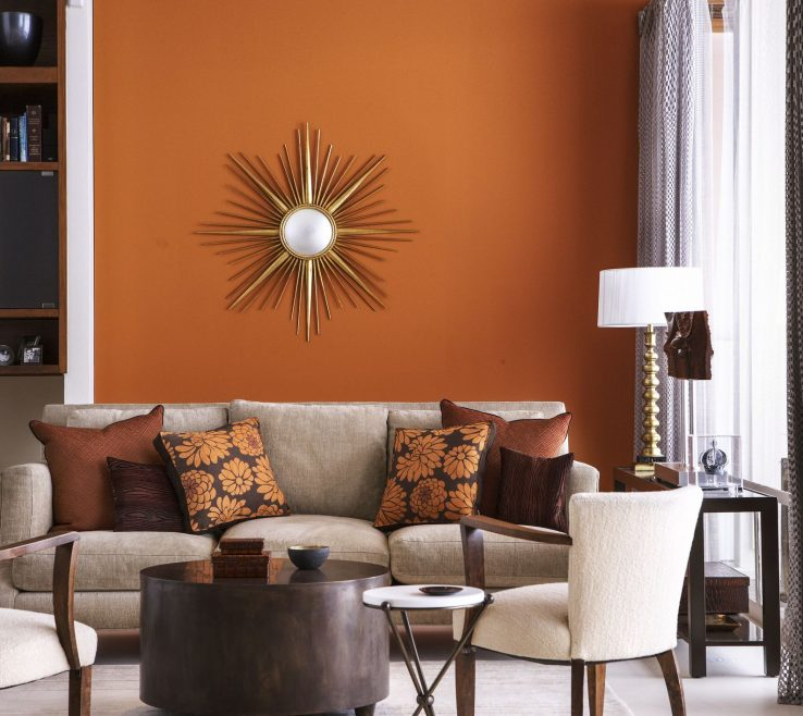 Impressing Orange Interior Design