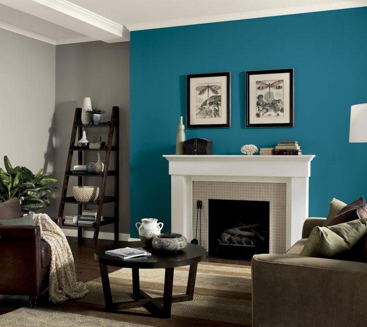 Impressing Turquoise Color For Bedroom Of Living Room Scheme Living Room Paint Ideas