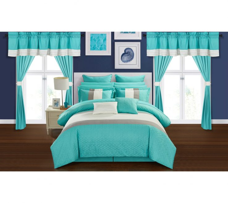 Impressing Turquoise Color For Bedroom Of Shop Chic Home Arisa Block 24 Piece