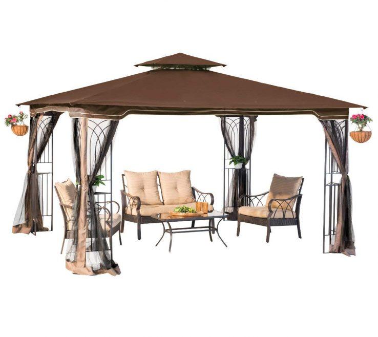 Impressive Furniture For Gazebo Of Conceptreview : Sunjoy L Gz798pst E Regency Ii