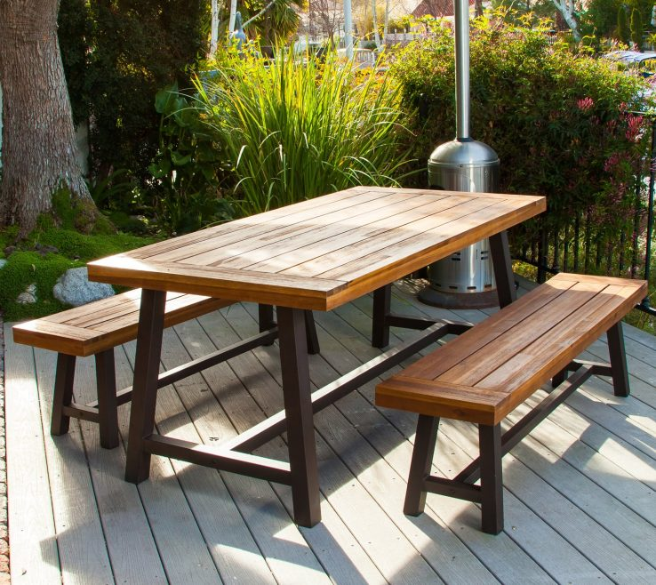 Impressive Garden Bench Table