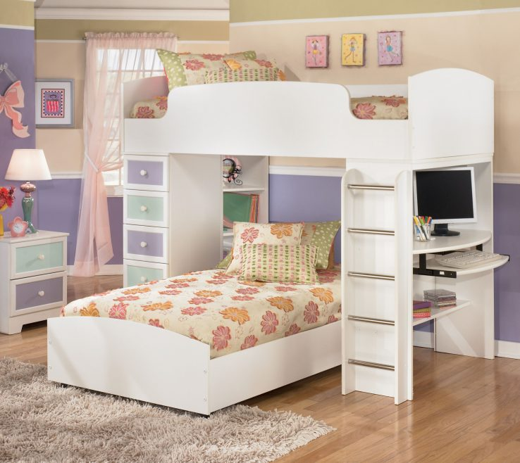 Impressive Kids Study Table With Storage Of Children Bunk Bed