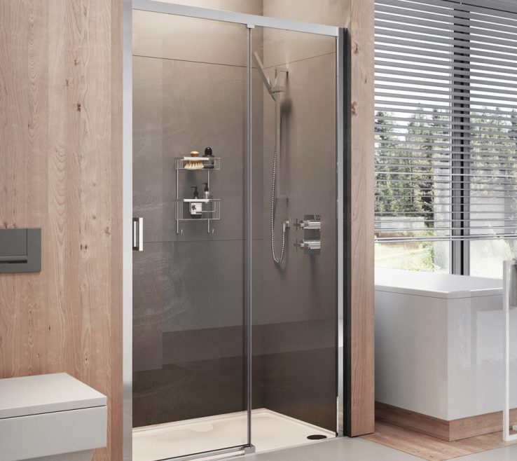 Impressive Luxary Showers Of Lumin8 Level Access Sliding Door Shower Enclosure