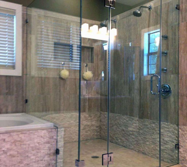 Impressive Modern Bathroom Shower Of With Corner Glass