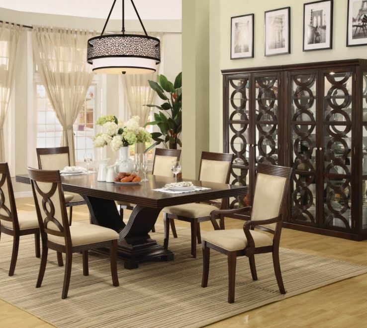 Impressive Modern Dining Table Centerpieces Of Room Decorating Ideas With For Black Furniture