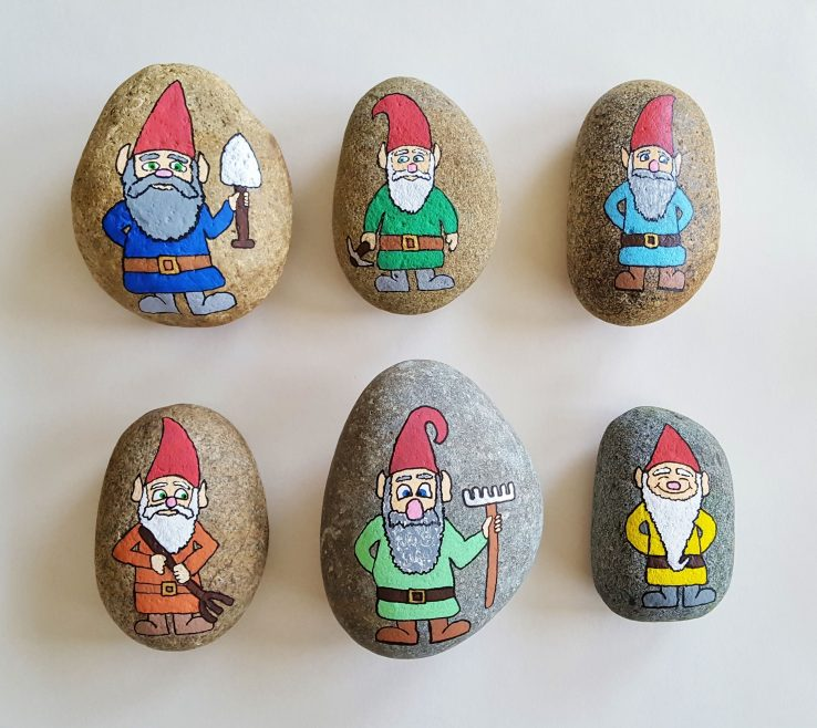 Impressive Painted Rocks For Garden Of Gnome Rocks.