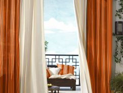Terrific Curtains With Orange Walls Of Living Room Ideas Burnt And Green Living