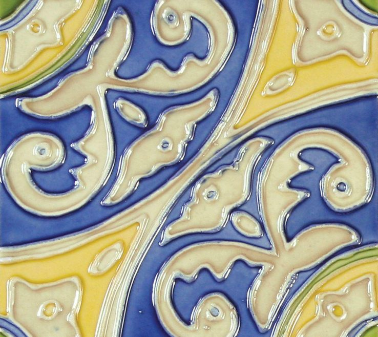 Ing Decorative Ceramic Wall Tile Of Solistone Hand Painted Circulo Deco 6 In. X