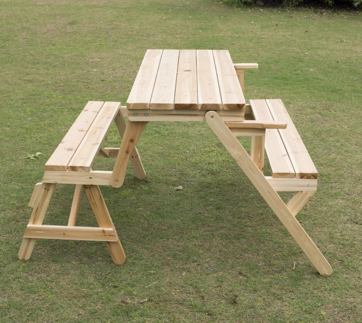 Ing Garden Bench Table Of Outsunny Patio 2 In 1 Outdoor Interchangeable
