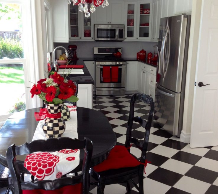Ing Red White And Black Kitchen Tiles Of Making Home Improvements Will Be Easier When