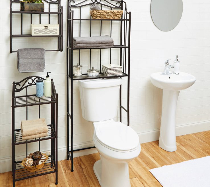 Ing Space Saving Ideas Of Bathroom Saver Oil Rubbed Bronze Shelf Storage