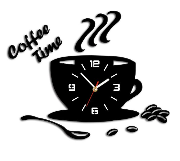 Ing Wall Clocks For Kitchens Of 3d Diy Acrylic Kitchen Clock Modern Coffee