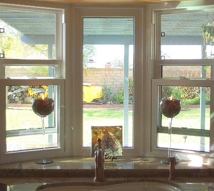 Inspiring Decorating Bay Windows Of Image Of: Simple Kitchen Window