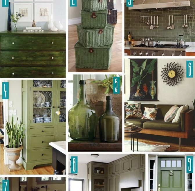 Inspiring Decorating In Green Of Color Series; With Olive. Olive Home Decor