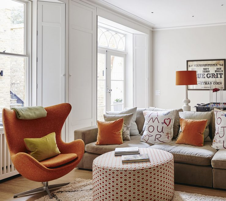 Inspiring Orange Interior Design Of Opt
