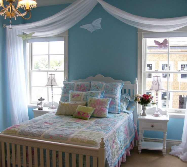 Inspiring Turquoise Color For Bedroom Of Mediterranean Room Ideas