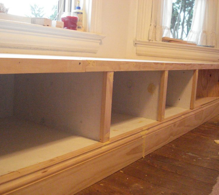 Inspiring Under Window Seat Storage Of Built In Do It Yourself Home