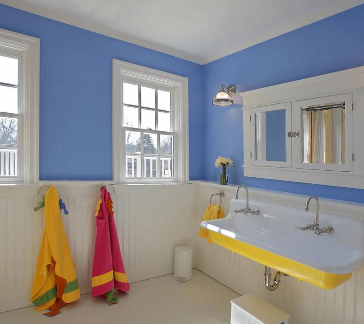Inspiring Yellow Bathroom Paint Ideas