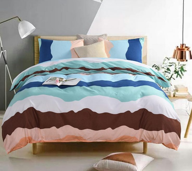 Interior Design For Bedroom Without Bed Of Printed Wave Bedding Set For Sheet Luxury