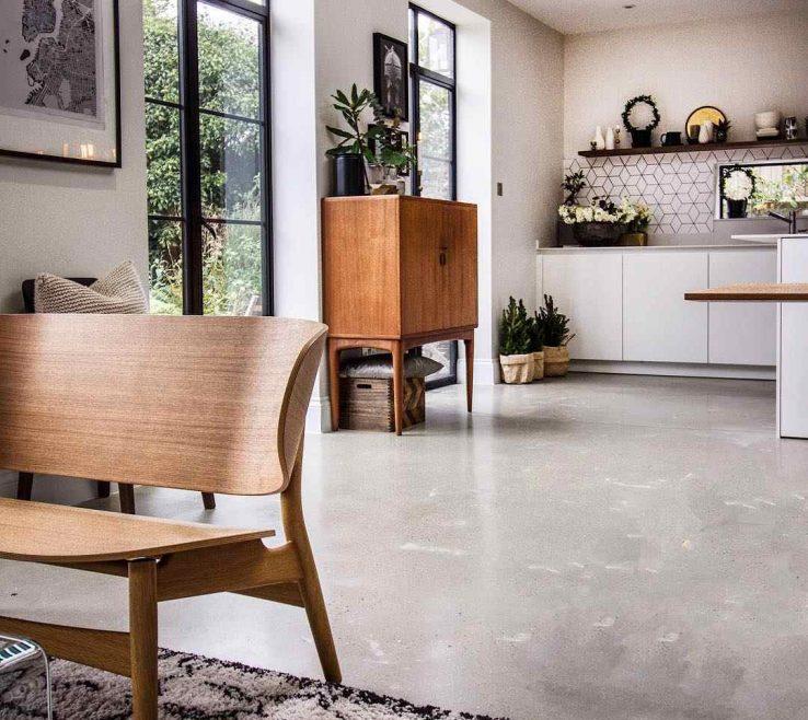 Interior Design For Concrete Flooring In Homes