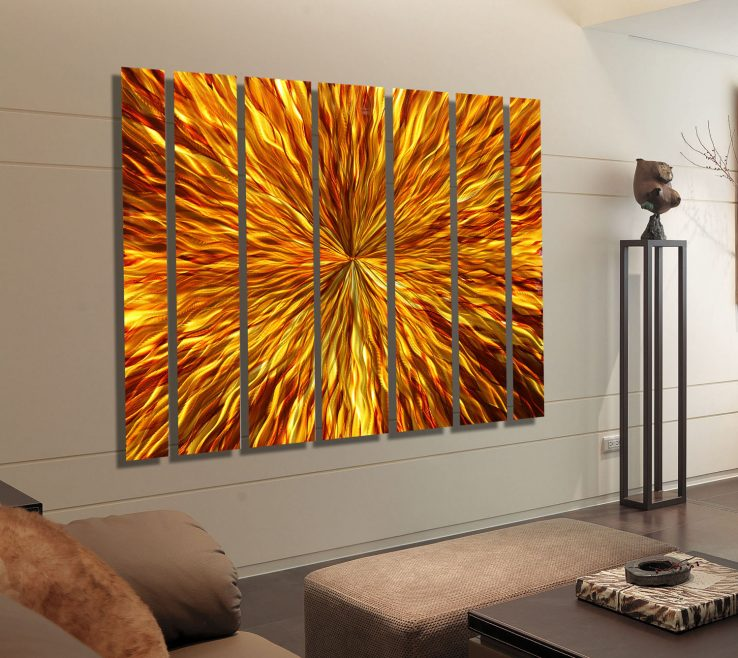 Interior Design For Orange And Brown Home Decor Of Nice Abstract Metal Wall Art Ideas