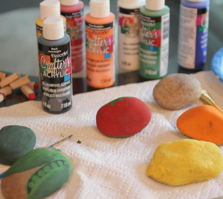 Interior Design For Painted Rocks For Garden Of Vegetable Rock Signs