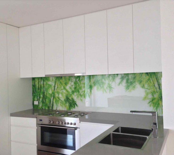 Interior Design For Printed Glass Backsplash Of Kitchen Kitchen Splashbacks Kitchen Upstands