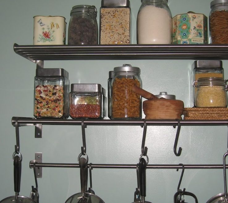 Interior Design For Wall Mounted Kitchen Shelves