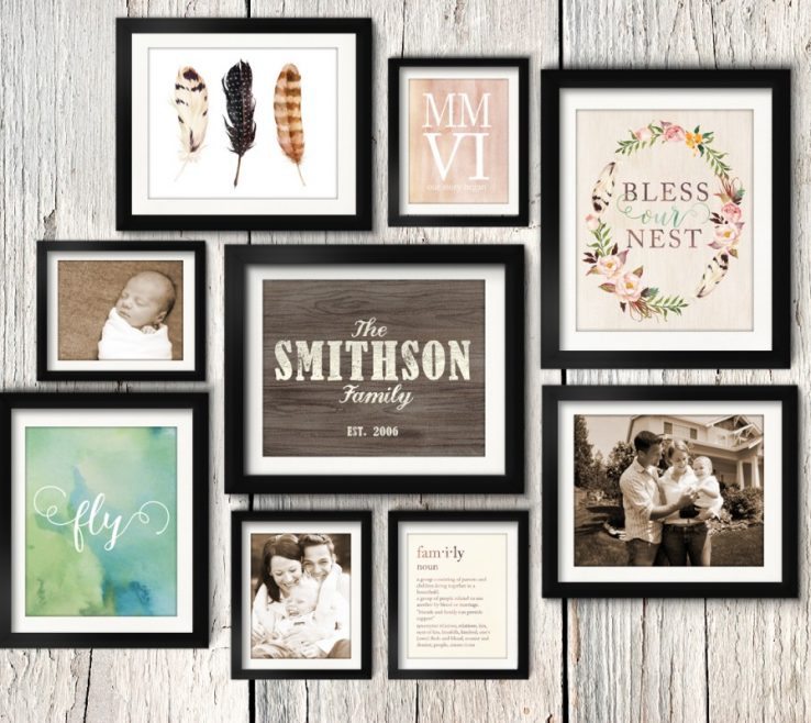 Interior Design For Wall Picture Frames Layout Of Asymmetrical Vintage Rustic Family Gallery Idea
