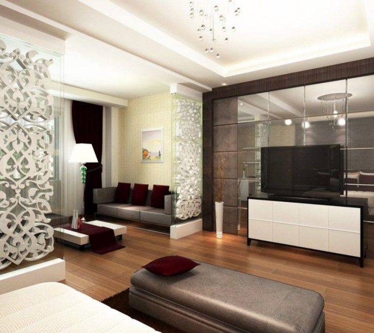 Interior Partition Wall Ideas Of Master Bedroom Design #masterbedroom #bedroomideas #bedroomdesign