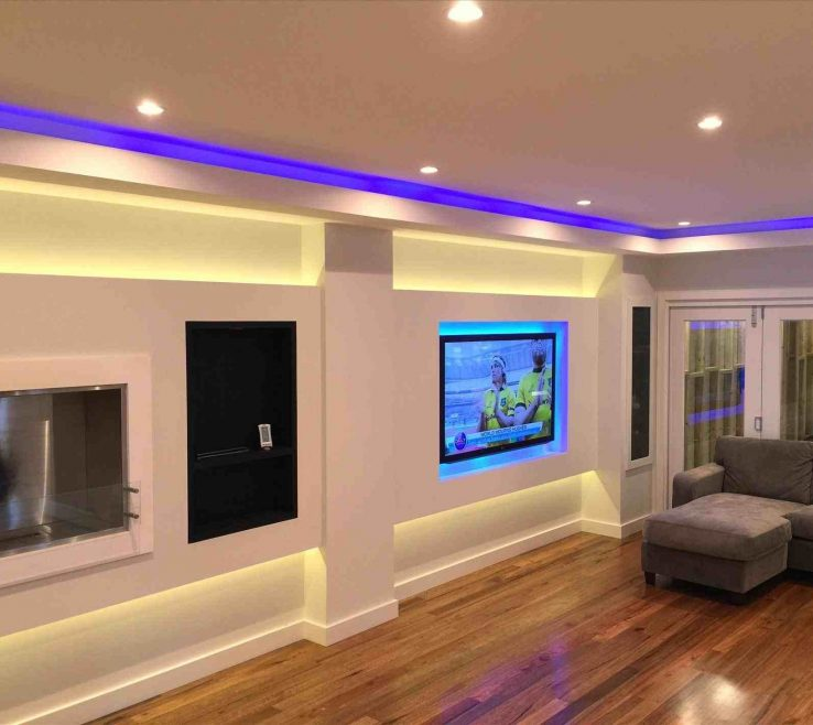 Led Room Lighting Ideas Of Living Room:lighting Living Recessed Charming Decor Great