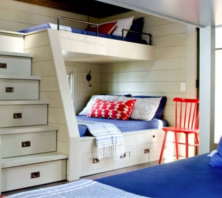 Likeable Beds For Small Spaces Of Built In Bunk Rooms