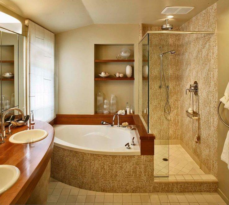Likeable Contemporary Tub Binations Of Bo Bathroom With Bathroom Lighting Bathroom