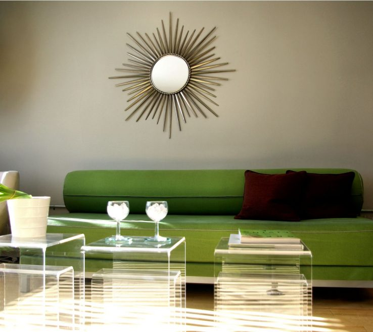 Likeable Decorating With Green Of Vintage Base Wooden Rectangle Coffee Table Feat