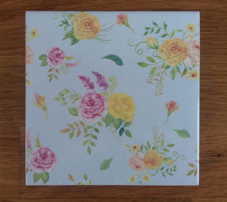 Likeable Decorative Ceramic Wall Tile Of Pale Blue Floral Patterned By Floral Tiles.