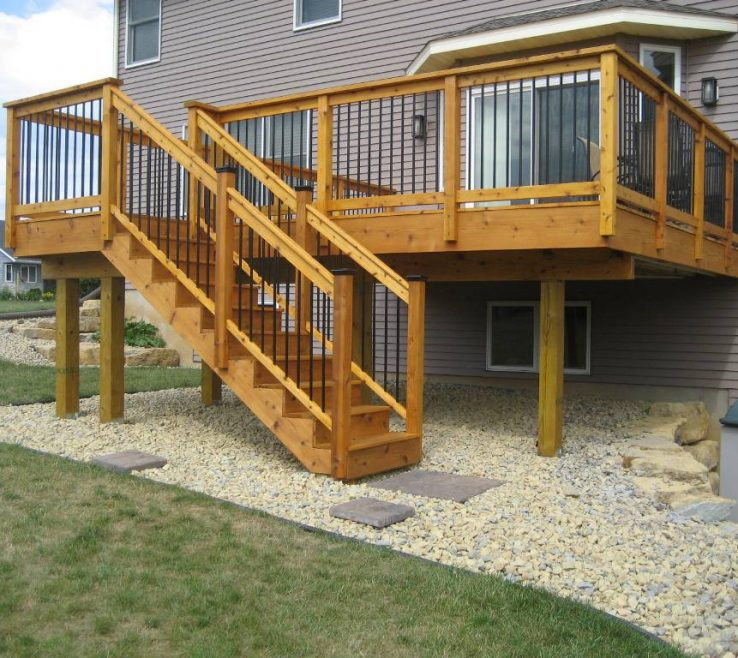 Likeable Outdoor Stairs Ideas Of Stair Railing Cedar