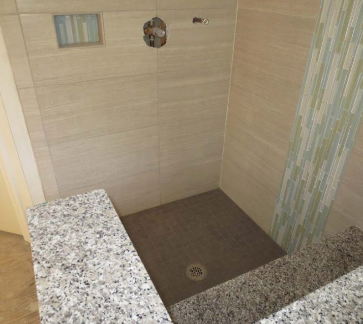 Likeable Shower Surround Tile Ideas Of Large Format Bathroom Time Lapse Installed
