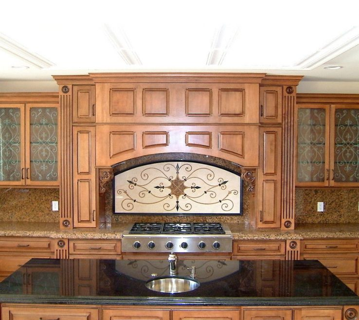 Likeable Stained Glass Kitchen Doors Of Bear Cabi Adds The Wow Factor