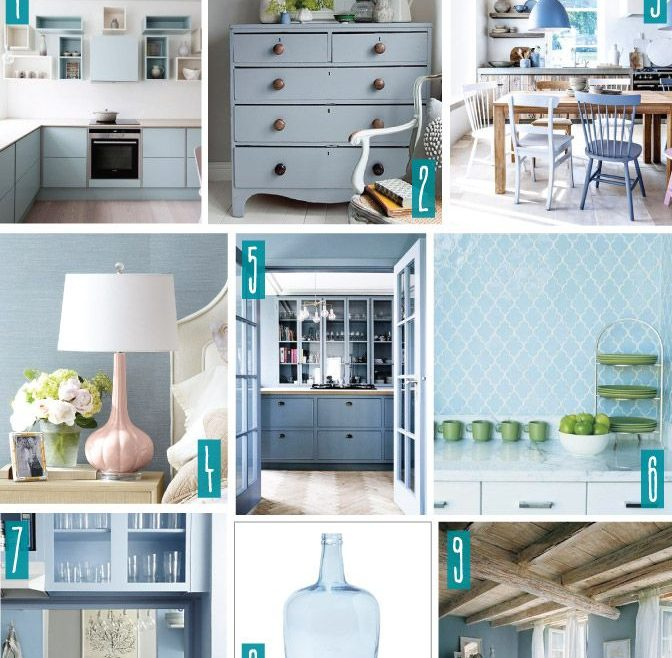 Lovely Blue Gray Decor Of Color Series; Decorating With Serenity, Pale Blue,
