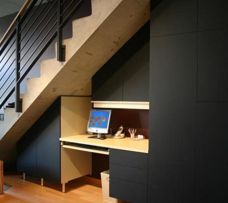 Lovely Cheap Stair Tread Ideas Of Small Space Storage