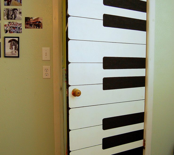 Lovely Decorate Bedroom Door Of Danielle Christensen And I Painted This Piano