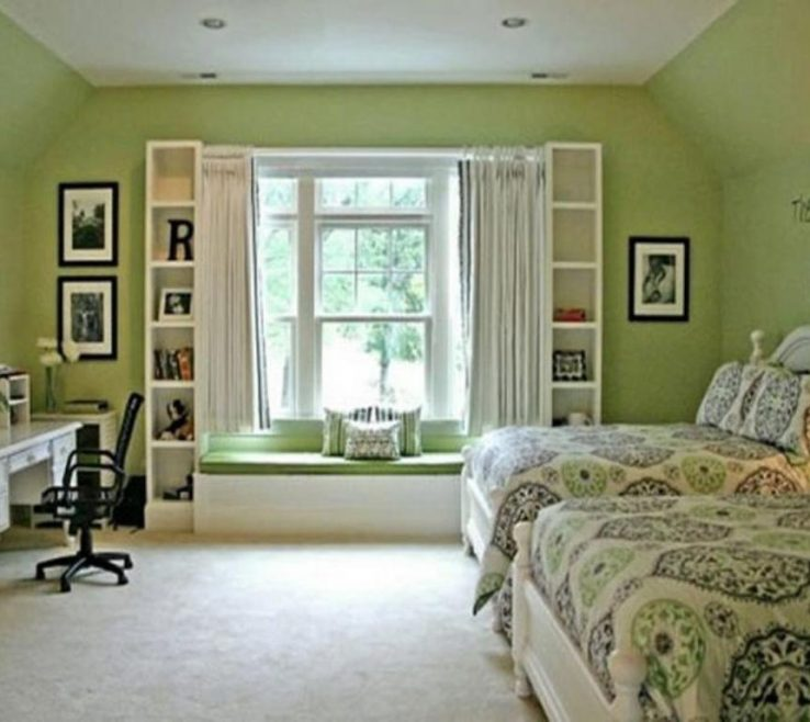 Lovely Decorating In Green Of Nice Mint Bedroom Ideas