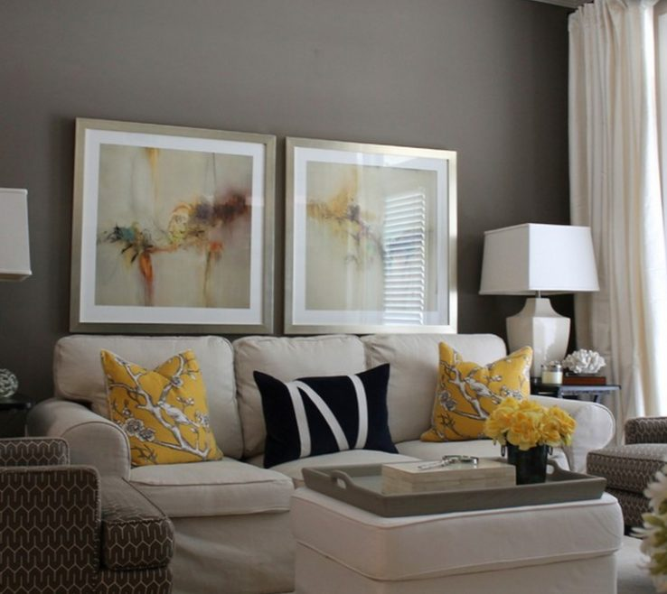 Lovely Decorating With Yellow And Red Of College Living Ideas Couture Set Brown Modern