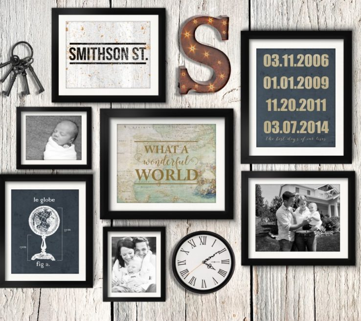 Lovely Wall Picture Frames Layout Of Asymmetrical Vintage Trial Family Gallery Idea