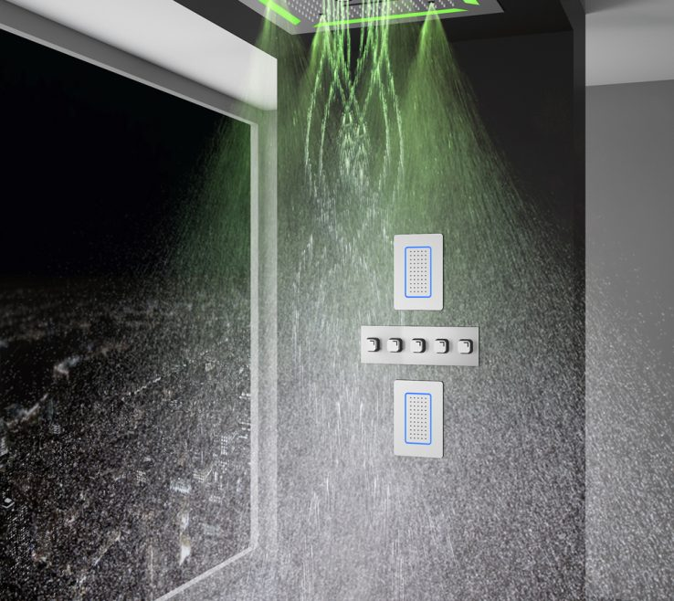 Luxary Showers Of Rome 4x Chromotherapy Luxury Shower